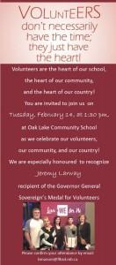 Volunteers Have Heart invitation